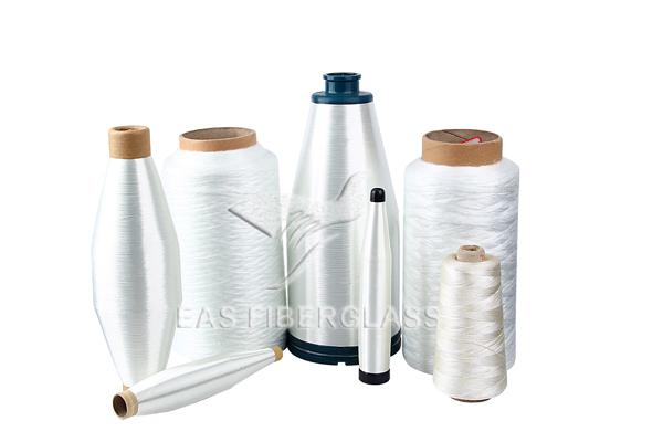 Introducción de hilo de fibra de vidrio.
