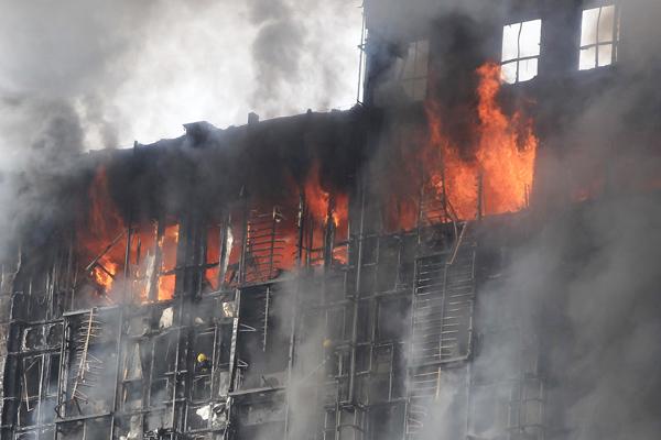 ستائر واطفاء الحريق