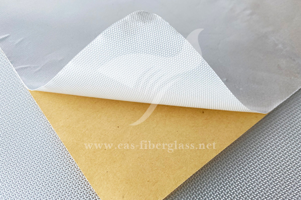 Aluminum Foil Fiberglass Cloth With Adhesive Backed