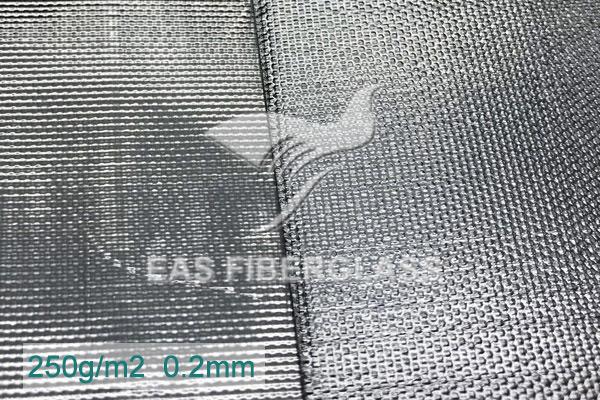 Pano de fibra de vidro de folha de alumínio para revestimento térmico