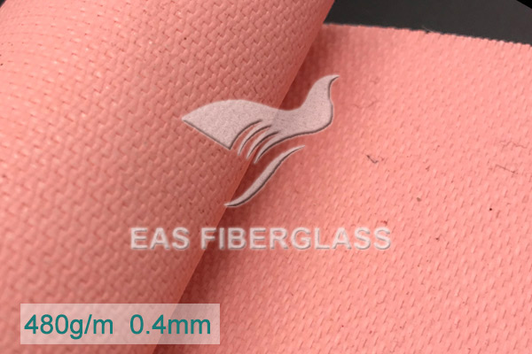 Salmon Acrylic Coated Fiber Glass Cloth