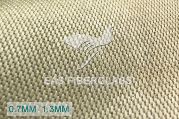 Tecido de fibra de vidro de sílica revestido com vermiculita