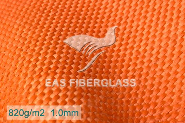Tela de fibra de vidrio naranja de 24 oz para manta de soldadura