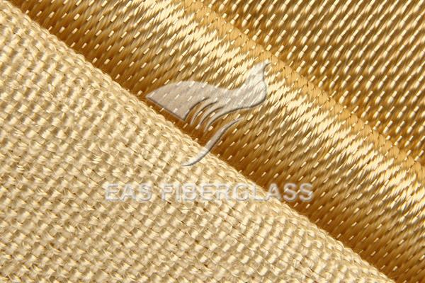 Tecido de vidro tratado termicamente / caramelizado